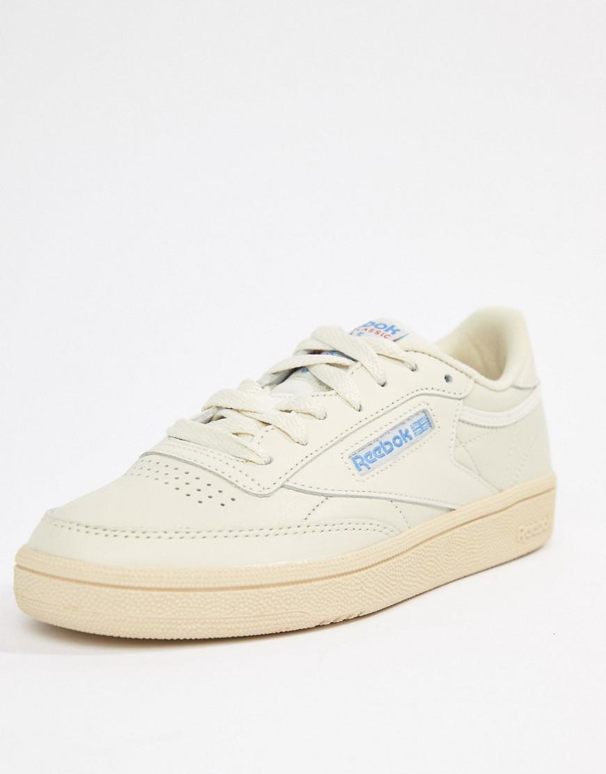 the best attitude 8f27b dfc41 Reebok Club C 85 Chalk Trainers in White - Lyst