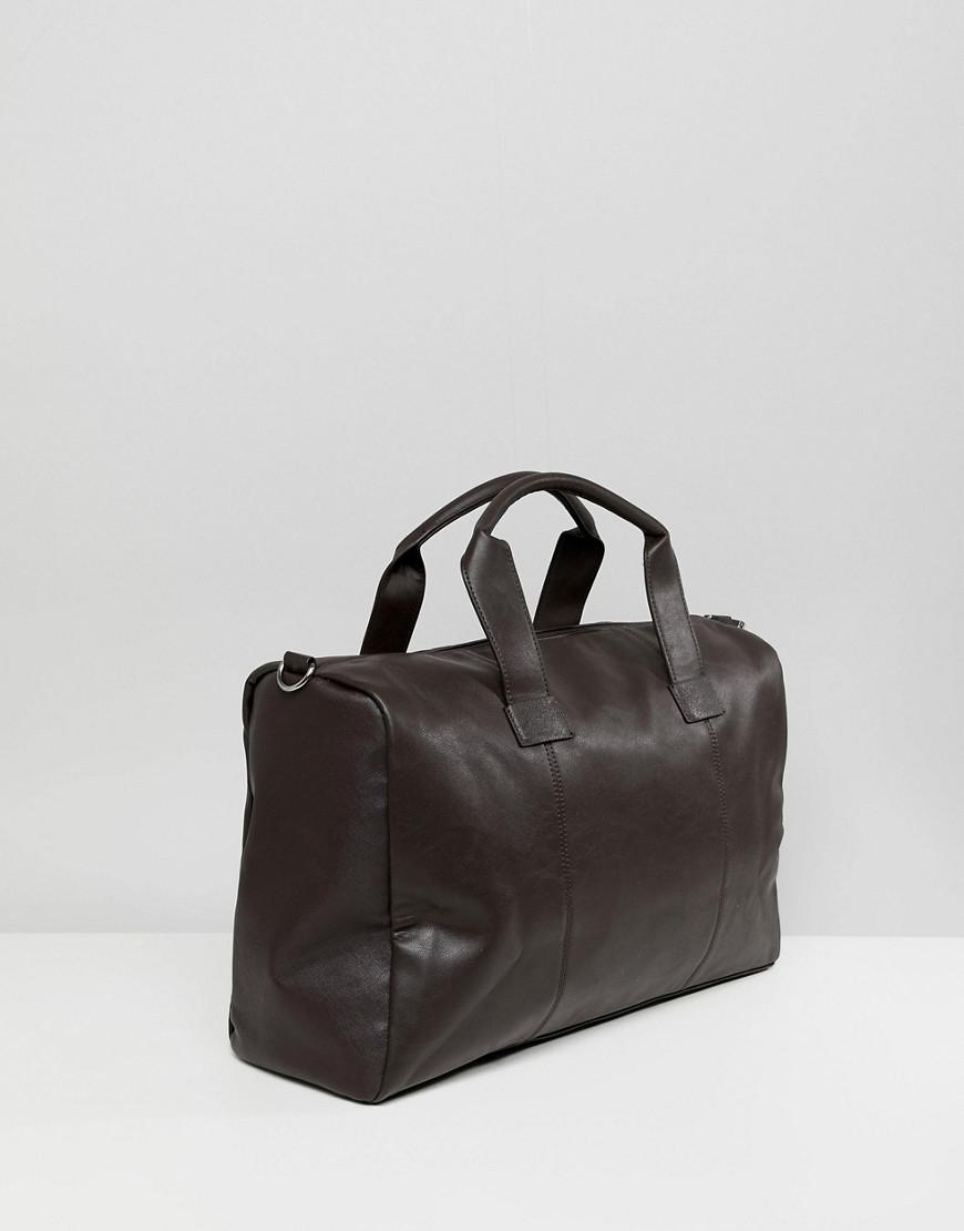 f28a275b2f Black Faux Leather Sports Bag | Building Materials Bargain Center