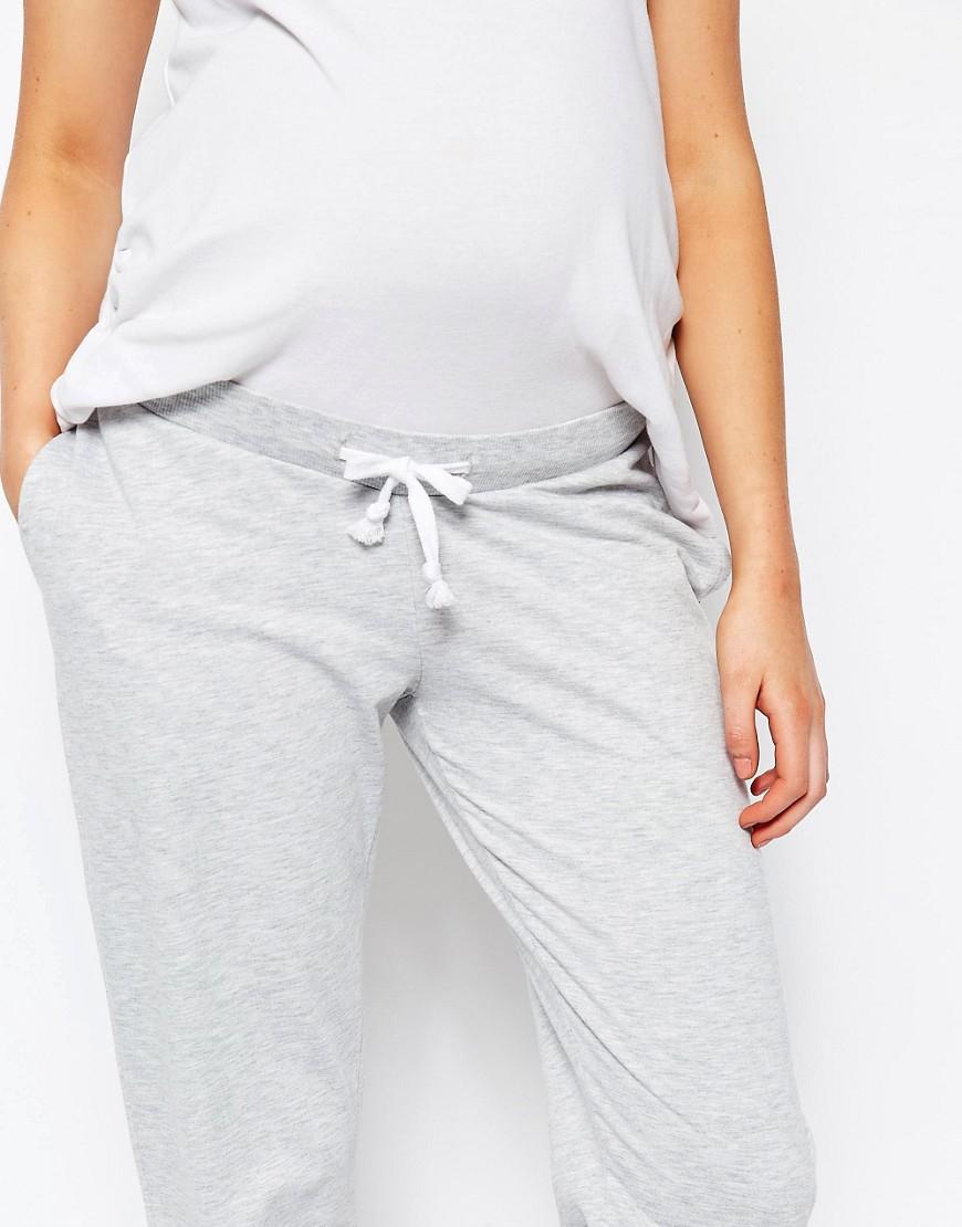 Asos Maternity Lounge Sweat Pant In Marl in Gray