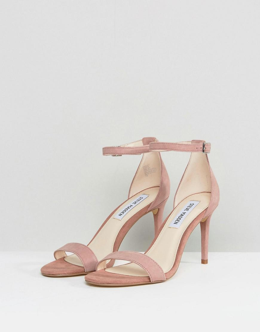 b43ea9a115c Steve Madden - Pink Suede Barely There Sandals - Lyst
