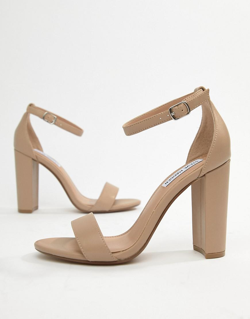 703fdc907be Lyst - Steve Madden Carson Leather Blush Pink Heeled Sandals in Pink