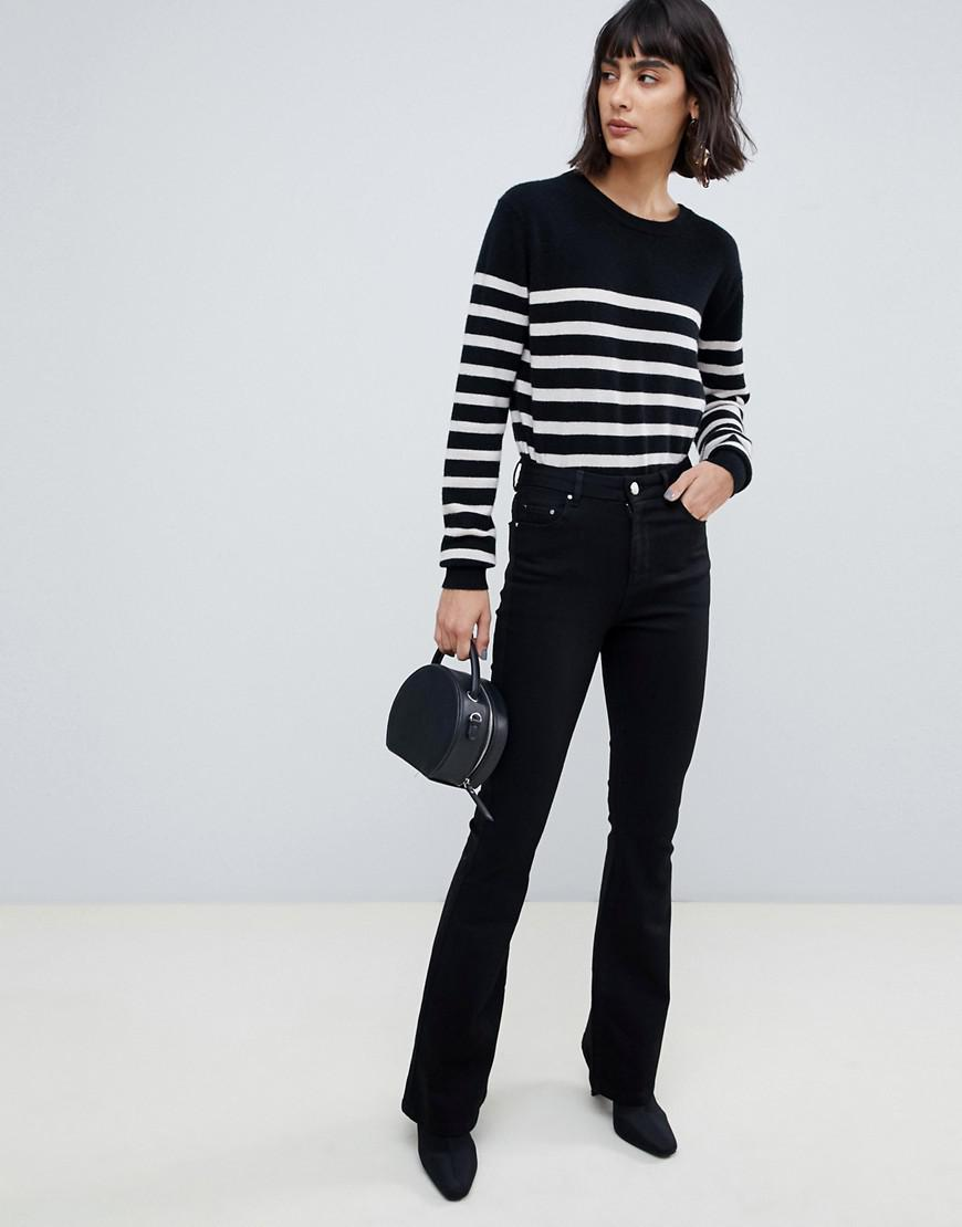 Flare Pressed Lyst With Asos Black Crease Bell Clean Jeans In rCodexB