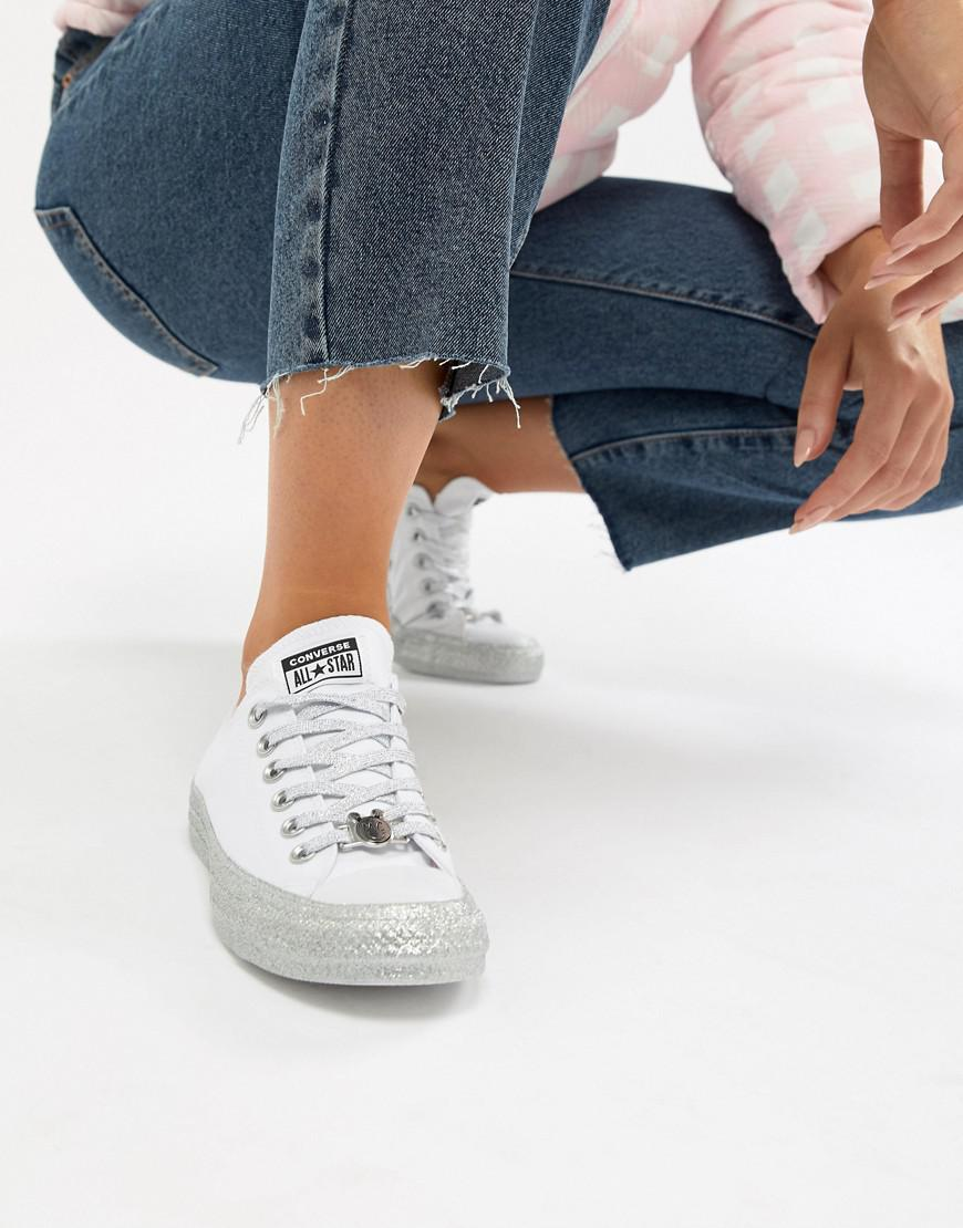 38abb50e821 Lyst - Converse X Miley Cyrus Chuck Taylor All Star Low Sneakers ...