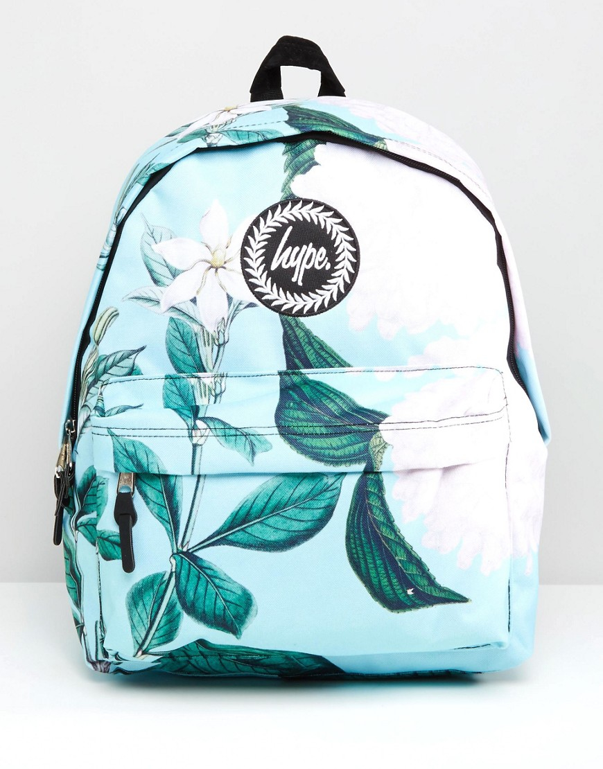 Hype Exclusive Leafy Floral Backpack In Blue | Lyst