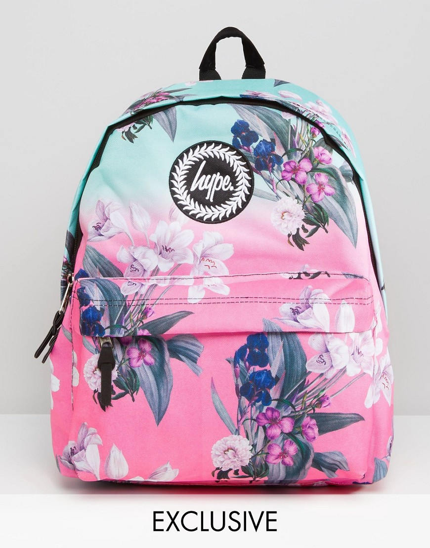 d831360fb413 Hype Exclusive Ombre Floral Backpack in Pink - Lyst