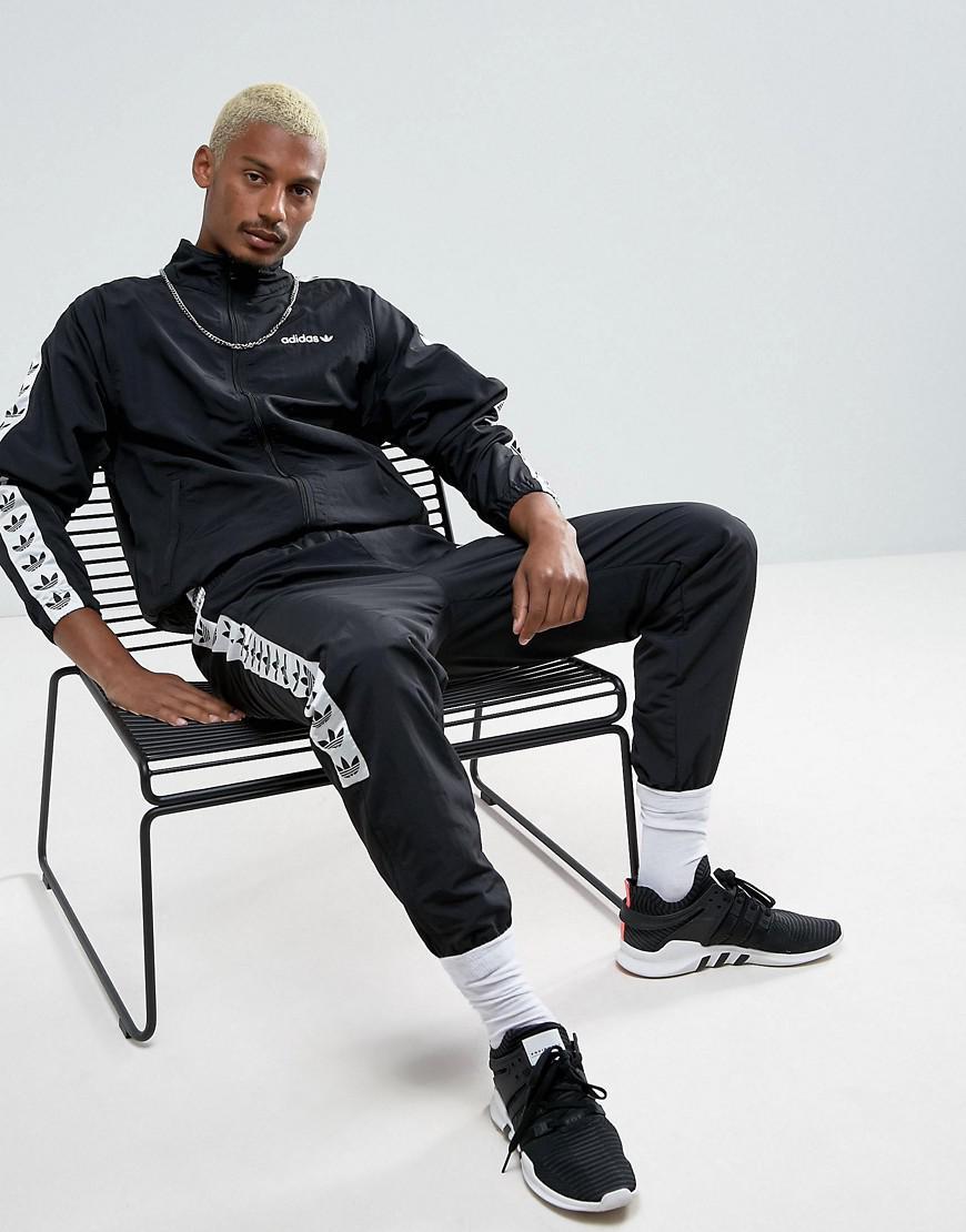 2ff51b6d2857 Lyst - adidas Originals Adicolor Tnt Tape Wind Track Jacket In Black ...