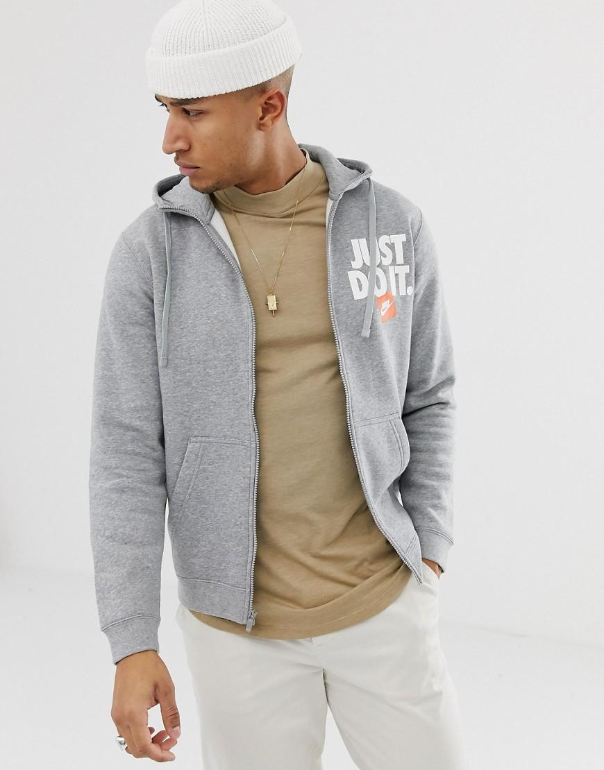 0a46457bca789a Nike Fullzip Hoodie In Grey in Gray for Men - Lyst