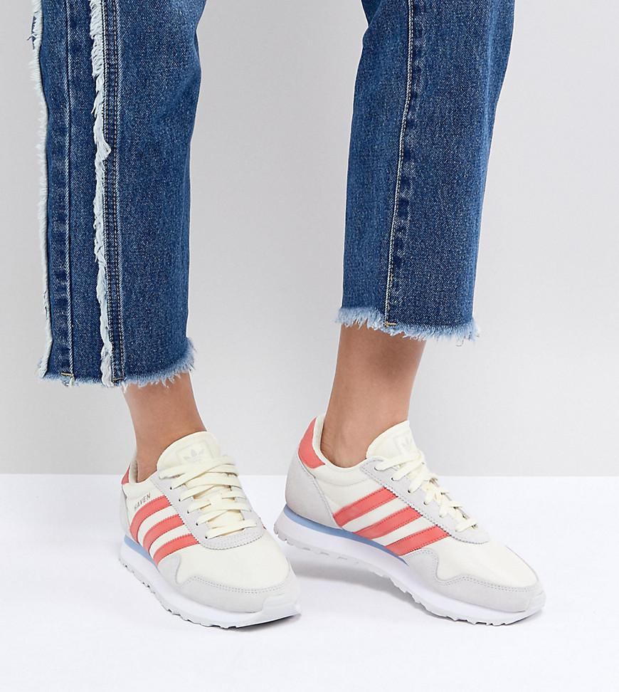 adidas Originals Haven Trainers In Off White And Red