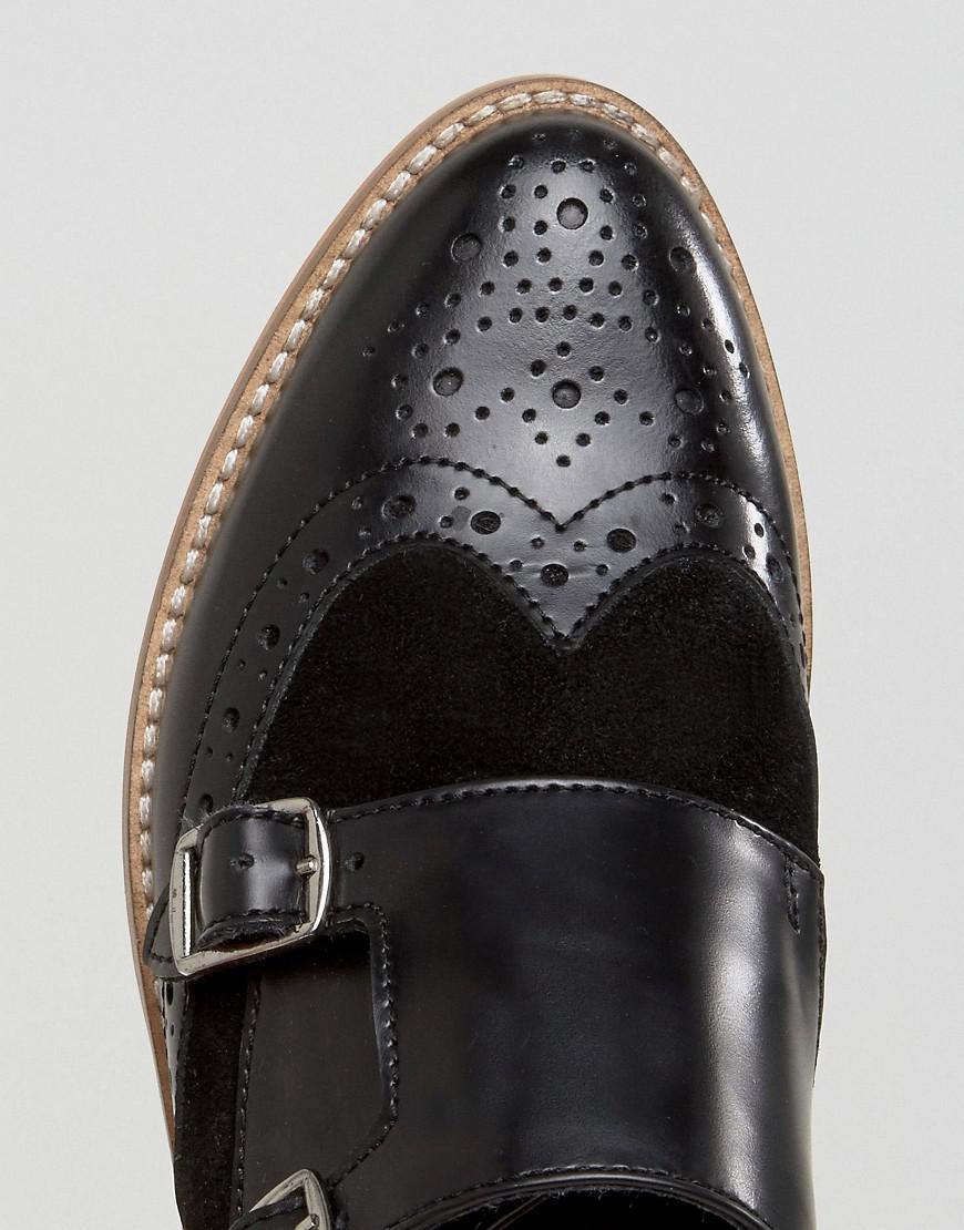 4425e22e28ab Black Lyst Shoes In Leather Mister Asos Monk qpYUq