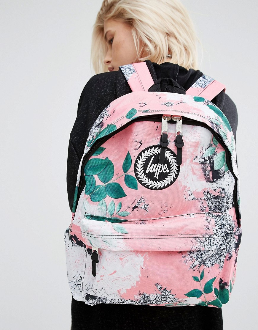 Hype Exclusive Peachy Floral Amp Leaf Backpack Multi Lyst