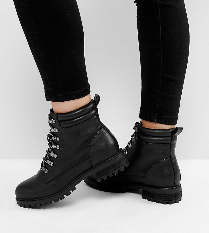 649d2aa61f9 ASOS Asos Absinthe Wide Fit Lace Up Ankle Boots in Black - Lyst