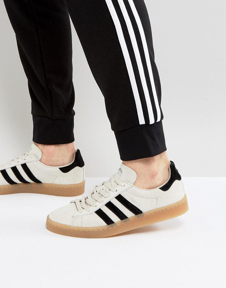 lyst adidas originali campus scarpe in beige bz0072 naturale