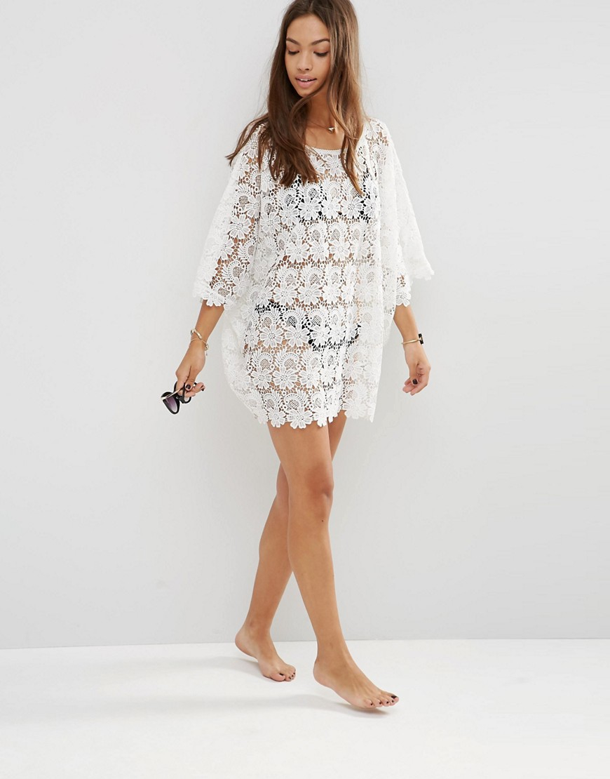 Melissa odabash Alanna Lace Coverup in White