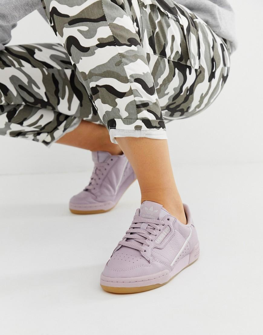 f7f9cdb94a2 Lyst - adidas Originals Mauve Continental 80 Sneakers
