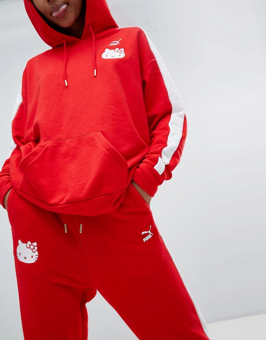 94e25709f15b Lyst - PUMA X Hello Kitty Joggers in Red