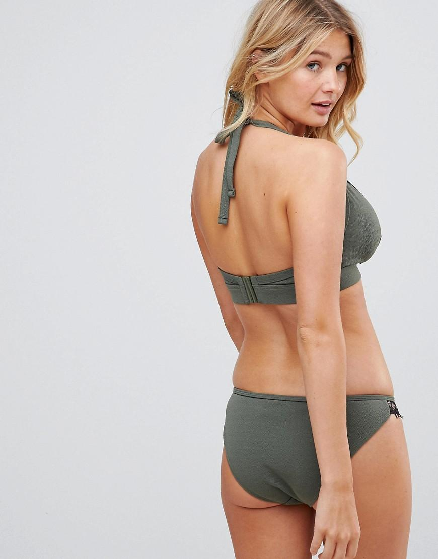 2bae149cd8cb9 Wolf   Whistle Lace Cami Bikini Top B-f Cup in Green - Lyst
