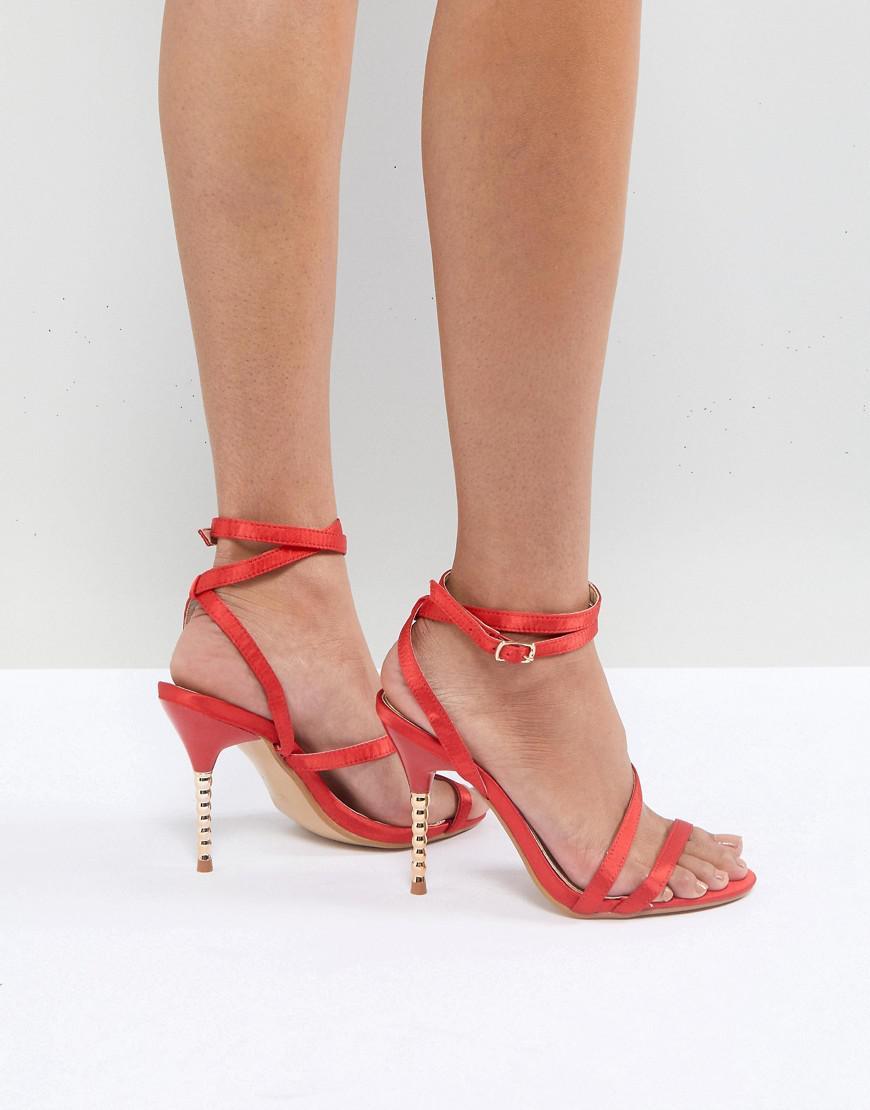 Heeled Sandals - Red satin Truffle bP3e7O