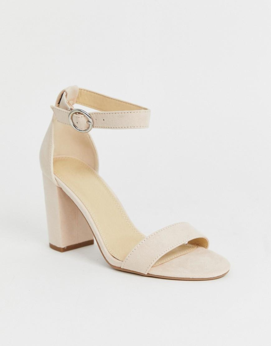 b6c499c9ce Pimkie Heeled Sandals In Nude in Pink - Lyst