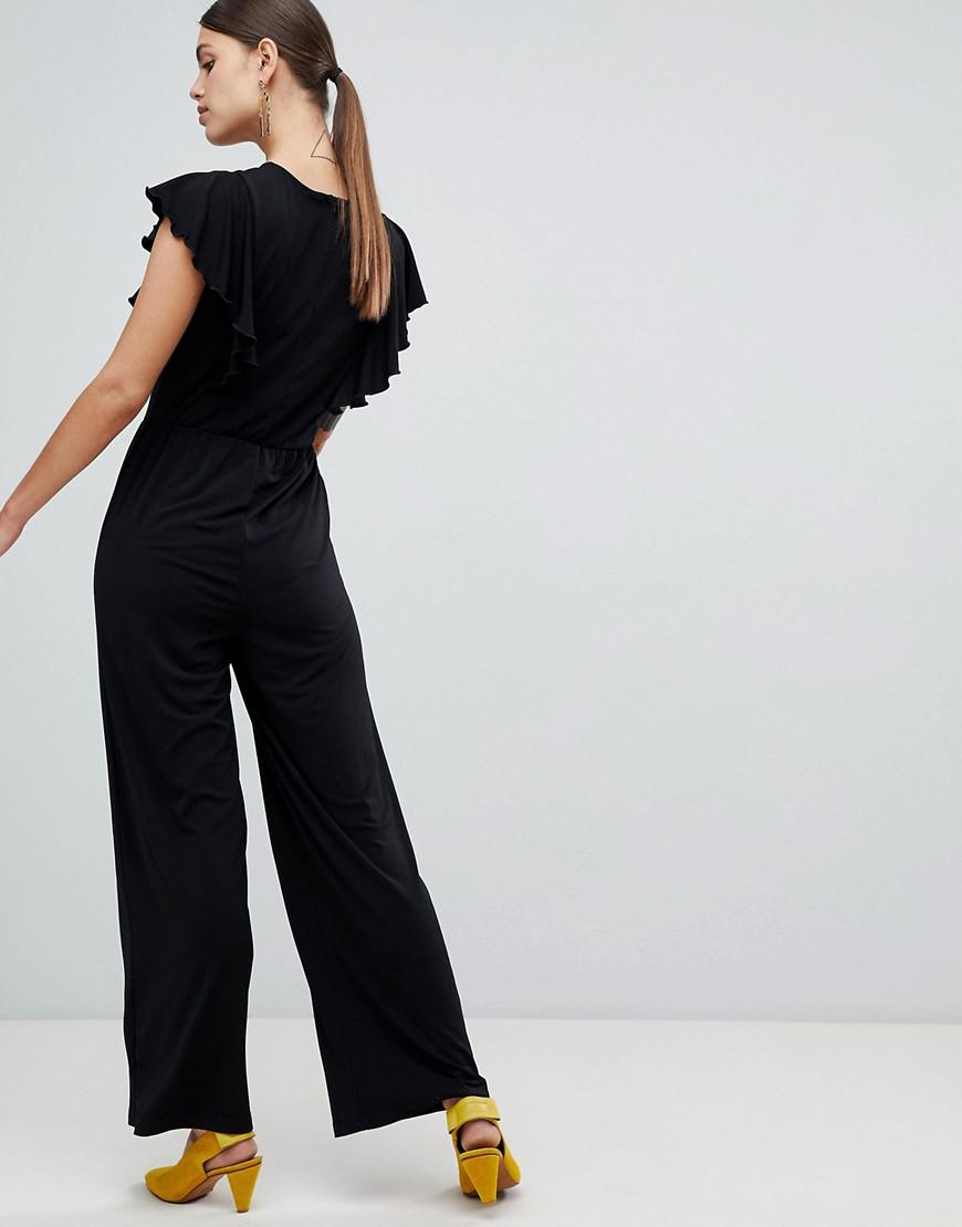 786c04d3e45a Lyst - Y.A.S Samba Wrap Front Jumpsuit in Black