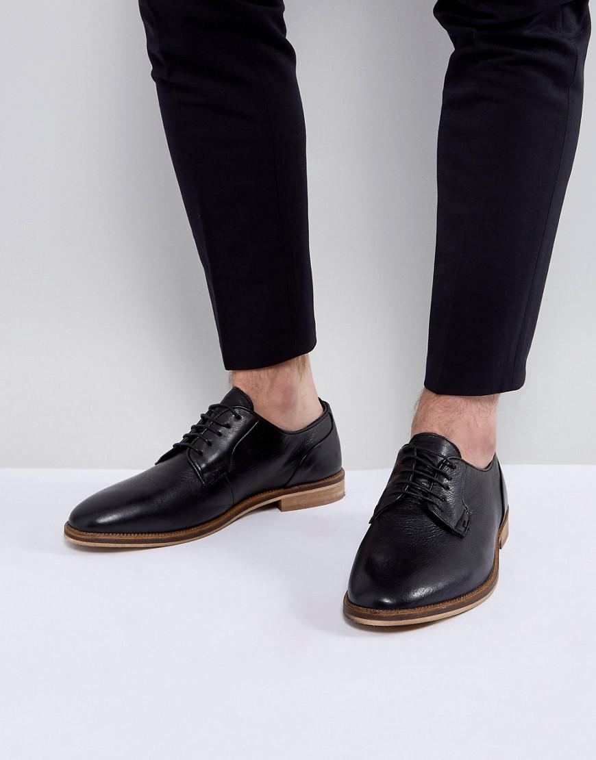ASOS DESIGN Wide Fit lace up shoes in suede with natural sole