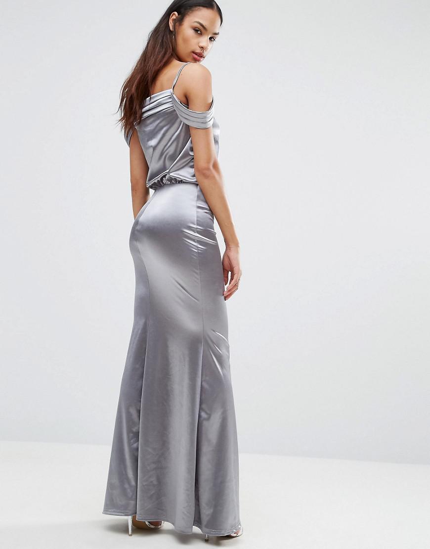 Satin Fishtail Dress