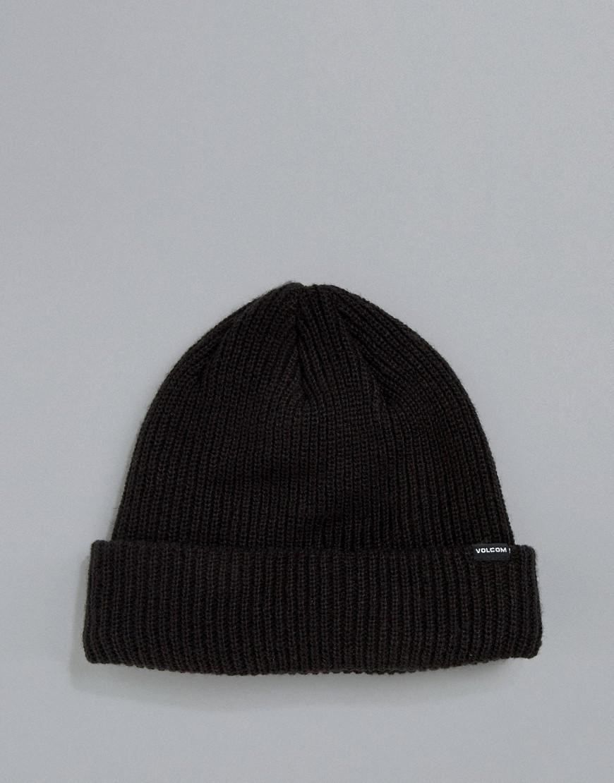 40d4c20bb54 Lyst - Volcom Sweep Fleece Lined Beanie In Black in Black for Men