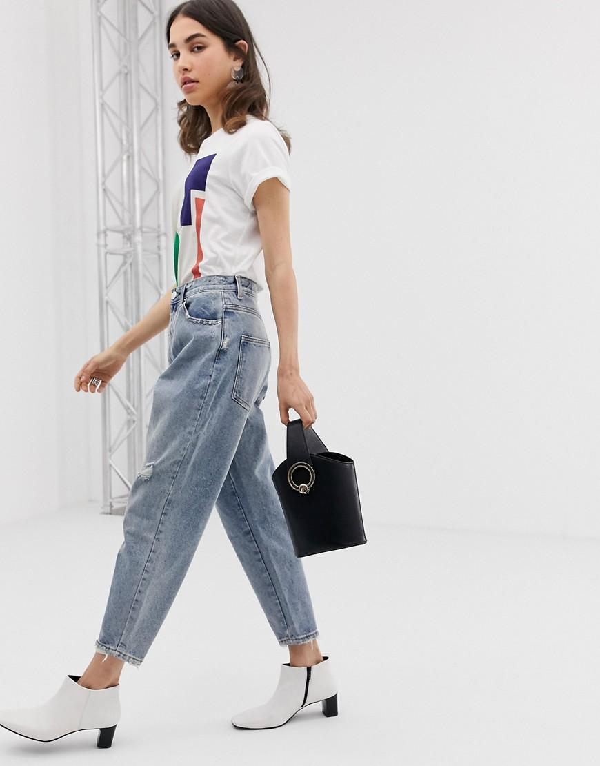 89205c04a8 Lyst - ASOS Balloon Leg Boyfriend Jeans In Light Vintage Wash in Blue