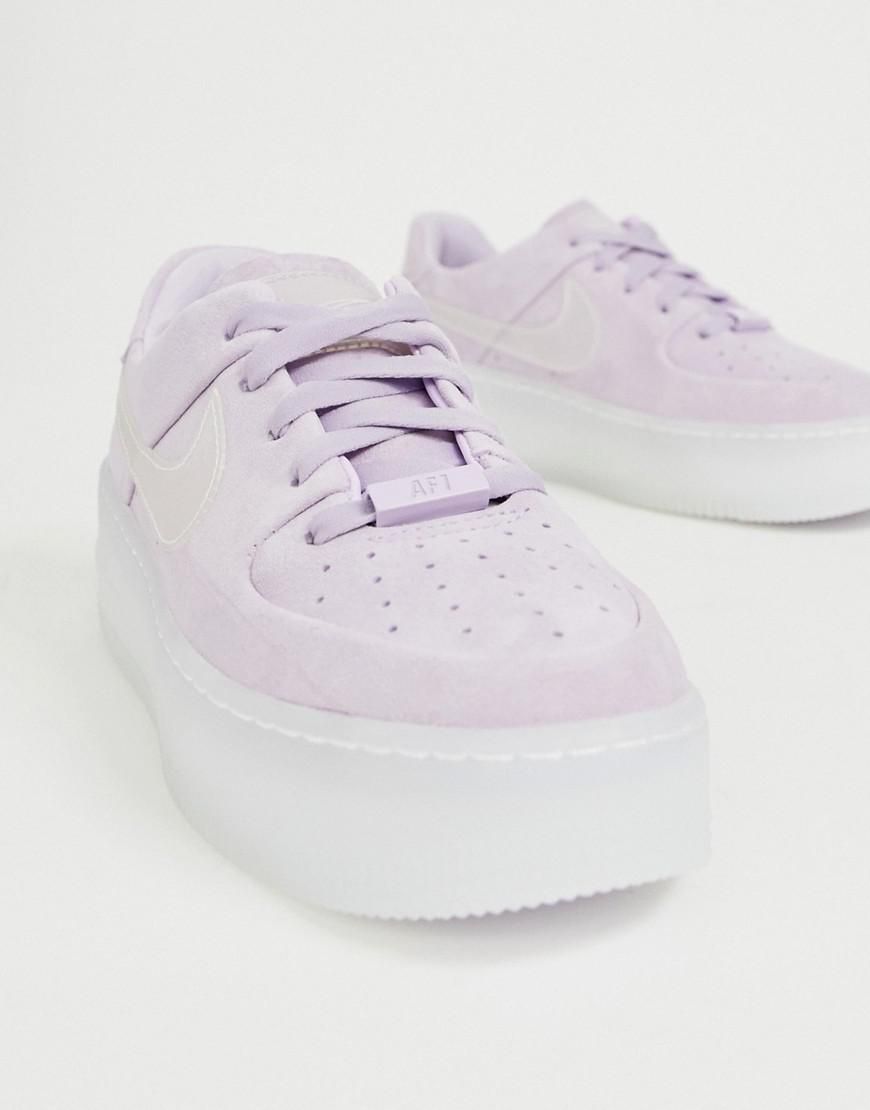 buy online 50530 c6402 Nike Lilac Ice Air Force 1 Sage Trainers in Purple - Lyst