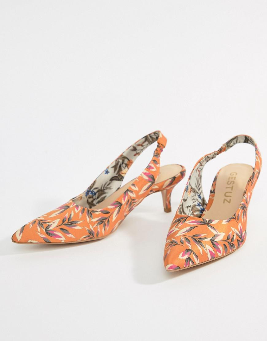 Gestuz Printed Heeled Sandals Discount Geniue Stockist Buy Cheap Purchase Cheap And Nice 2e2sm