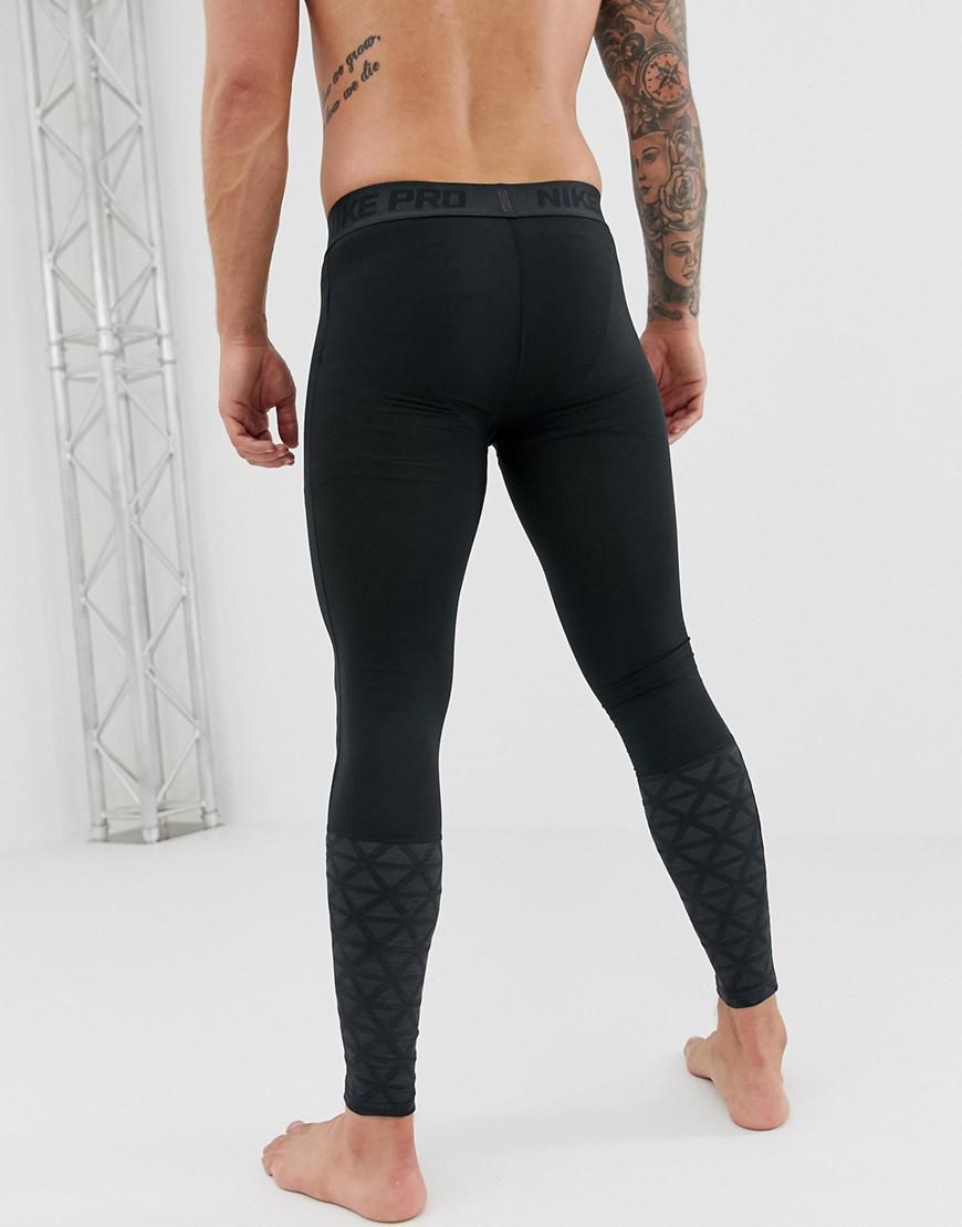 5e3829ca46d70 Nike Pro Utility Tights In Black 929699-010 in Black for Men - Lyst