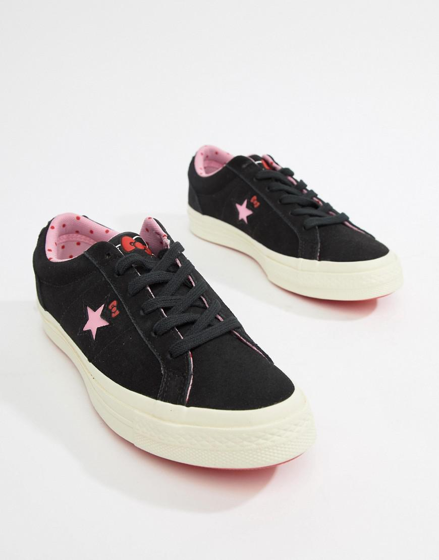 f3a8e75f47bbfc Lyst - Converse X Hello Kitty One Star Sneakers in Black