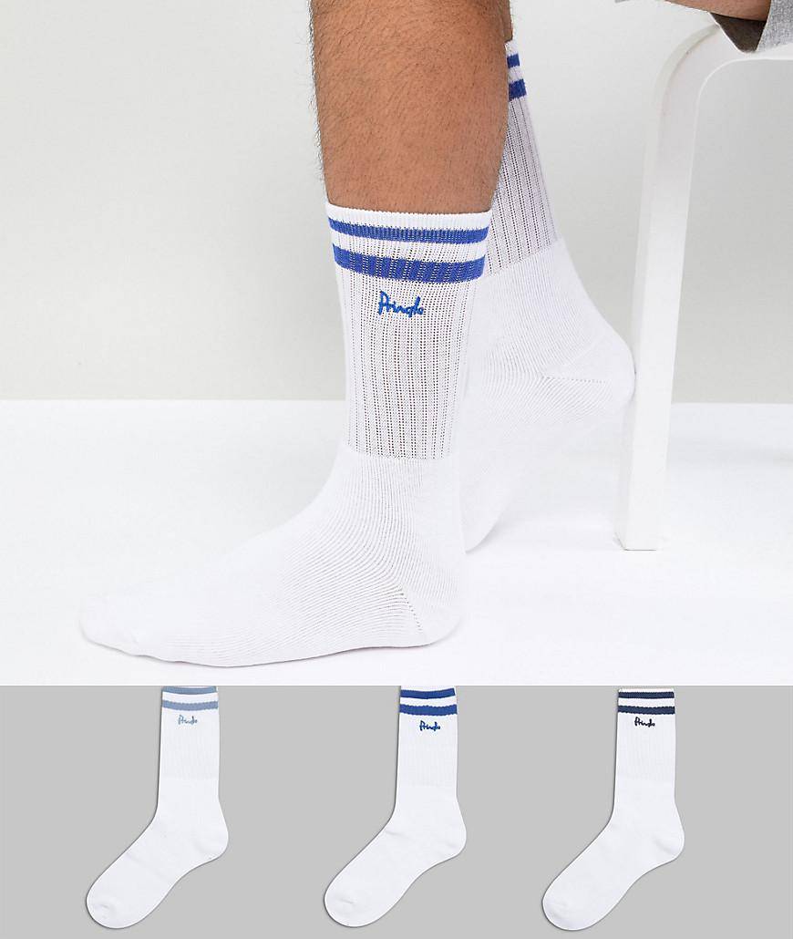Outlet 100% Original Sport Socks 3 Pack - White Pringle Of Scotland Shopping Online Authentic sIGqrZ1yzM