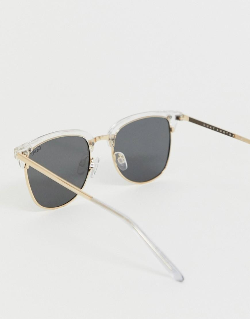 9dc3f290e Quay Evasive Square Sunglasses In White in White for Men - Lyst