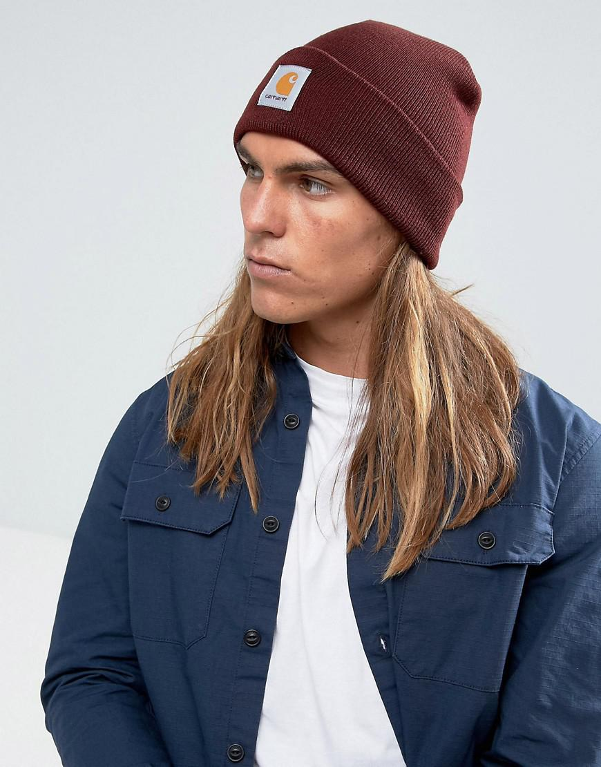 a378c0496ed Lyst - Carhartt WIP Short Watch Beanie in Red for Men