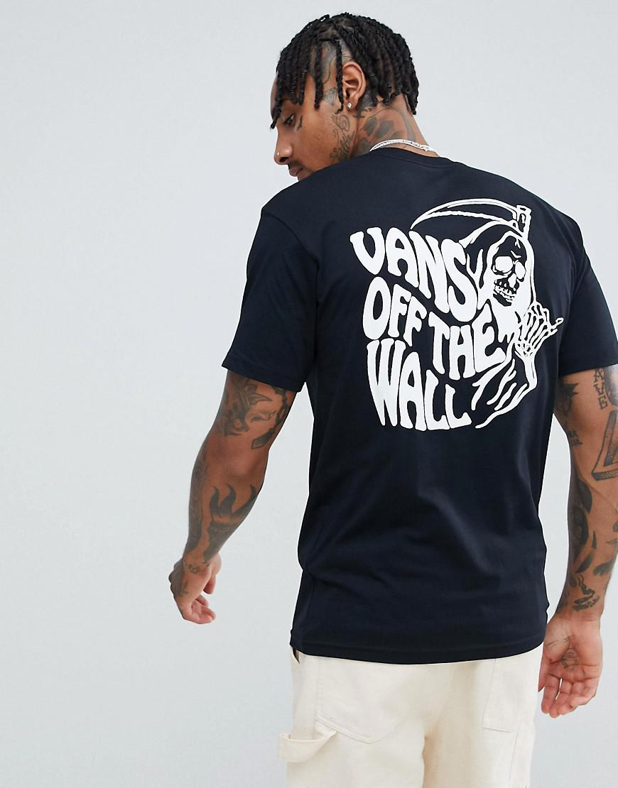 cec655669addfd Vans T-shirt With Back Print In Black Vn0a3hqzblk1 in Black for Men ...