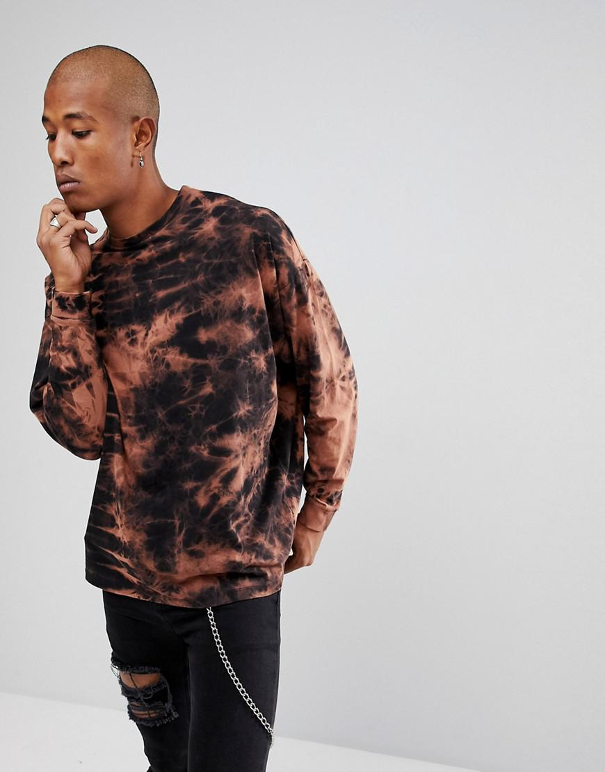 Excellent For Sale DESIGN oversized t-shirt with random bleach wash in orange - Orange Asos Outlet Latest Collections Newest For Sale yORfUEc
