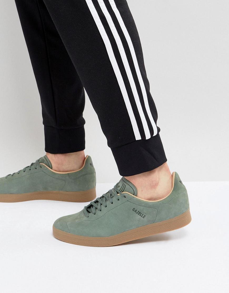 Adidas Originali Gazzella Decontaminazione Scarpe In Verde Cg3705 In Verde