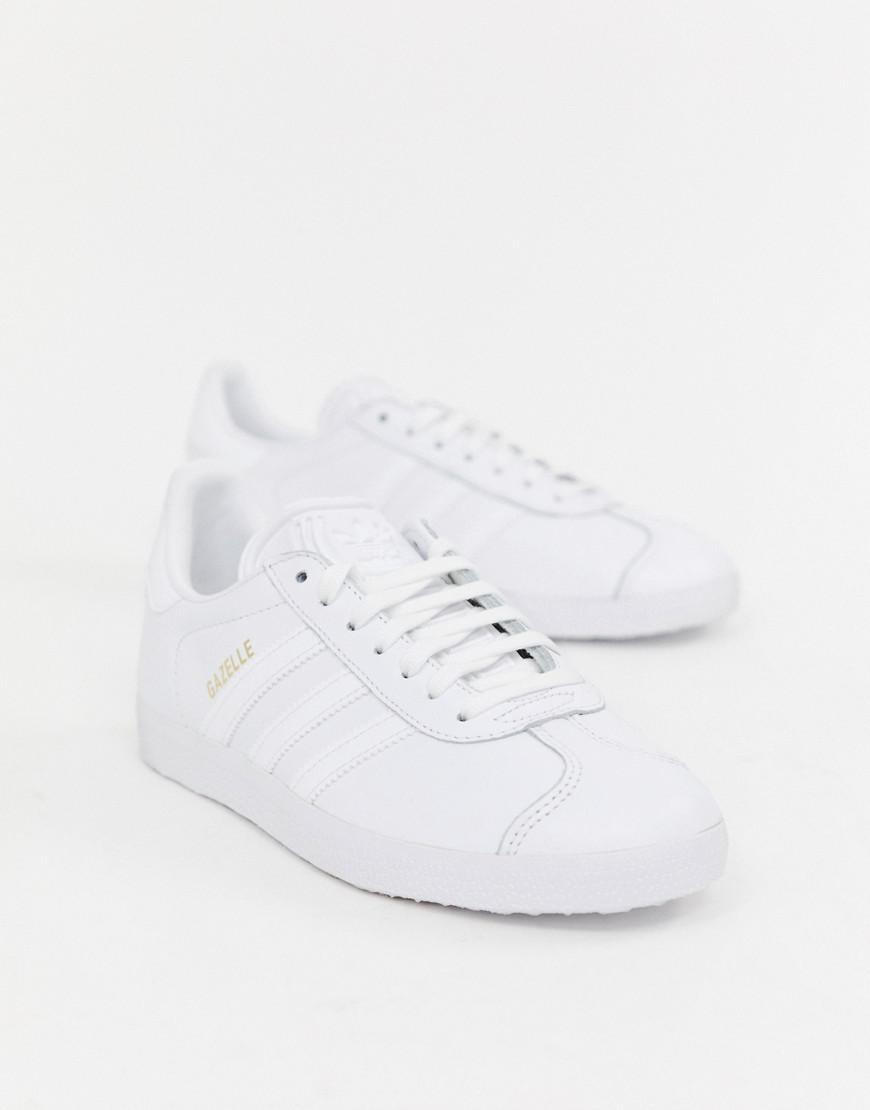 ab4087eee5045d Adidas Originals Gazelle Trainers In White in White - Lyst