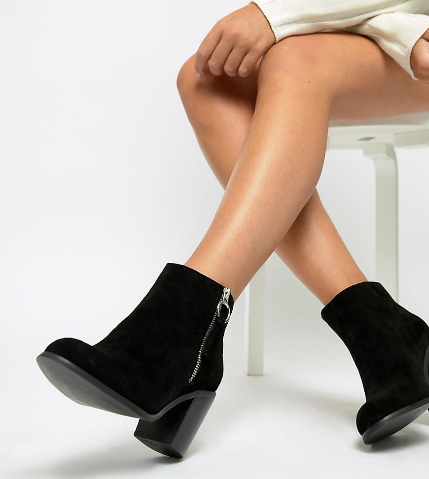 90b045a7600 ASOS Wide Fit Explorer Suede Ankle Boots in Black - Lyst