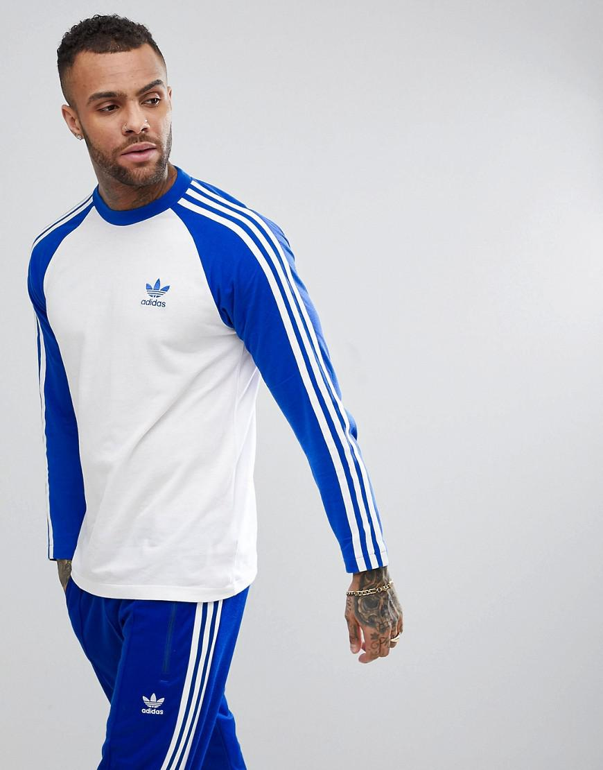 Lyst - adidas Originals Adicolor Longsleeve Top In Blue Cw1229 in ... 888a5dcab