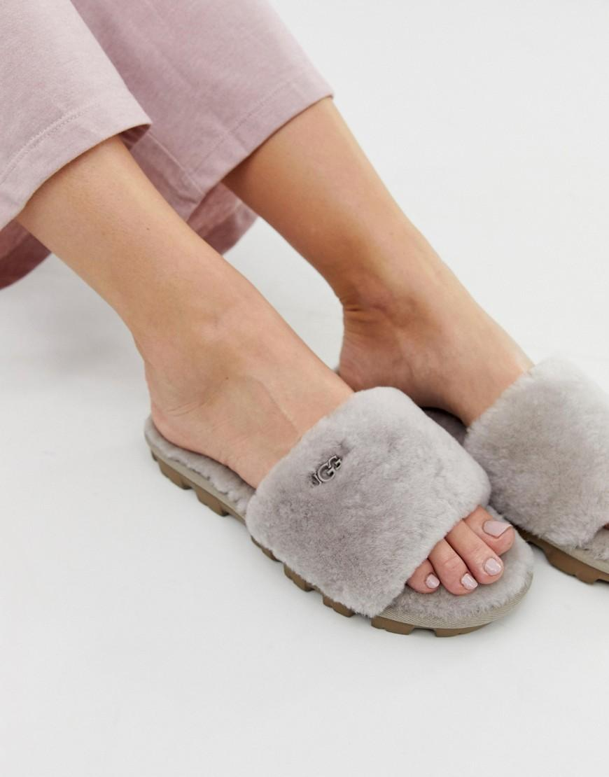 3928d708ec UGG Cozette Slide Slippers In Oyster in Gray - Lyst