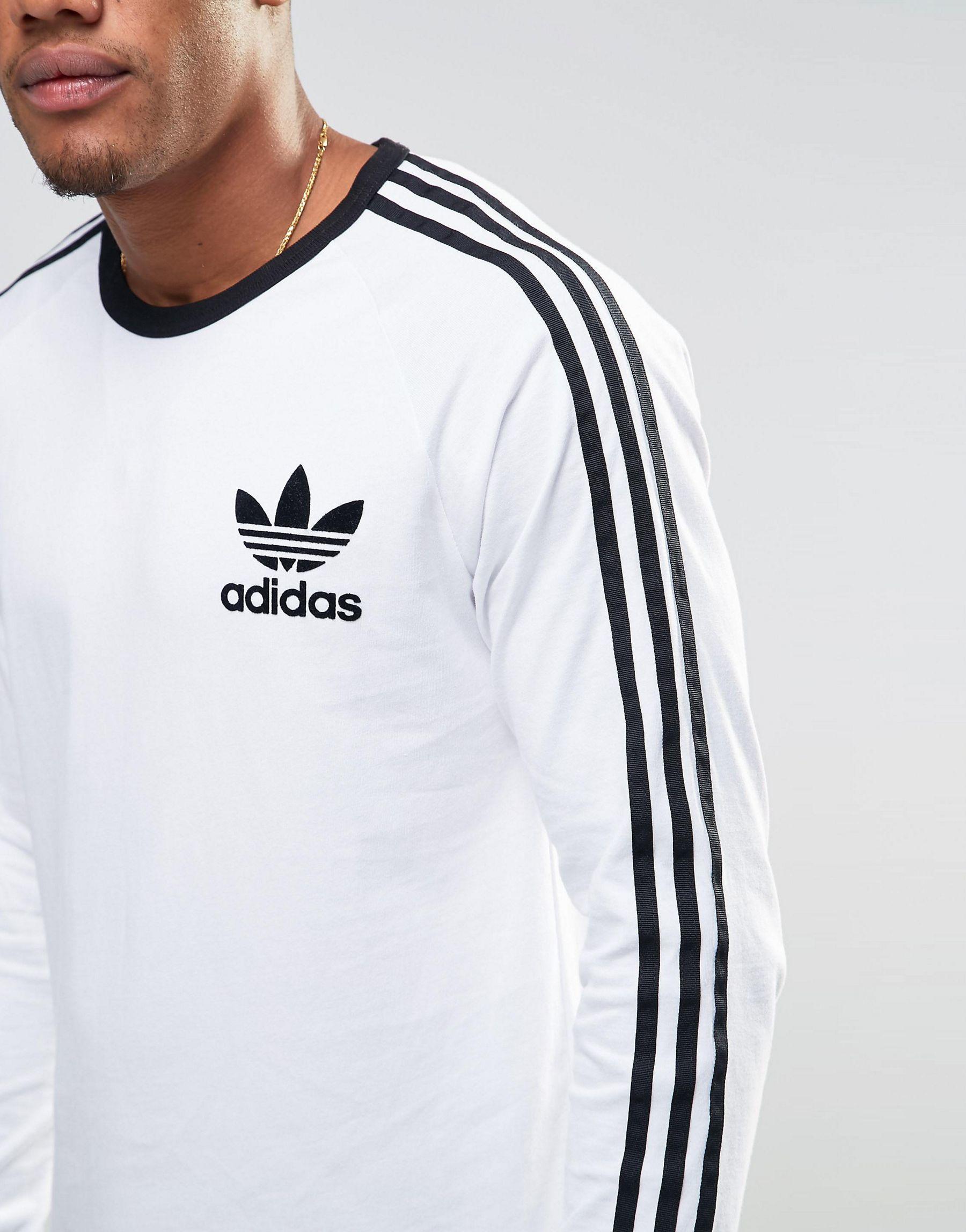 7e9c2e7c adidas originals men's adicolor fashion long sleeve t shirt black Lyst -  adidas Originals Adicolor Longline Long Sleeve T-shirt In ..