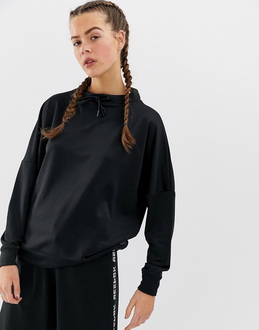 13d78f4d7a8e Reebok Training Back Logo Sweatshirt In Black in Black - Lyst
