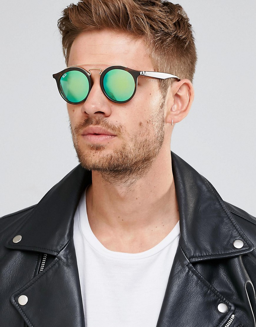 4da9e94299 Ray-ban Round Gatsby Sunglasses With Flash Lens 0rb4256 in Brown for Men