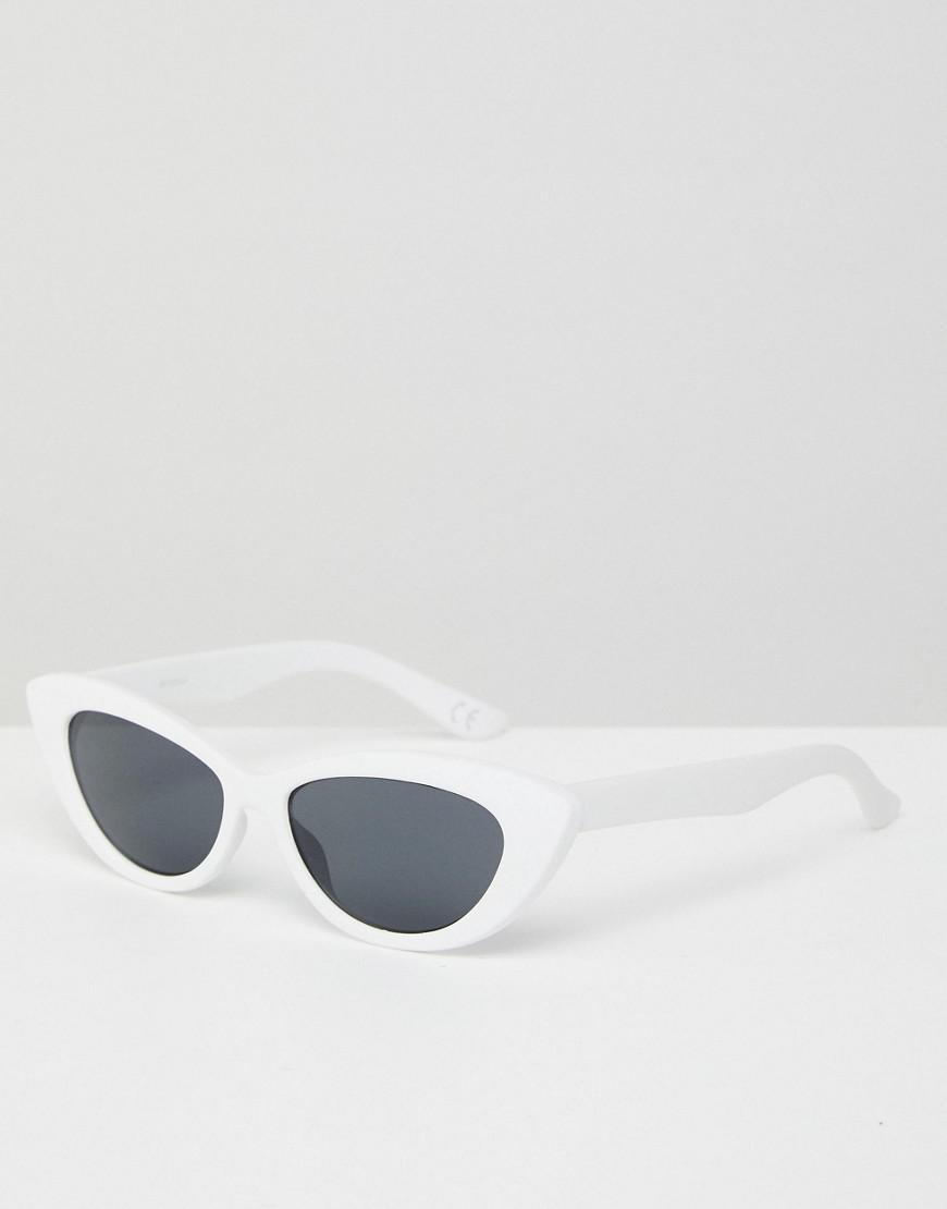 0f26f3566d7 Lyst - ASOS Asos Small Pointy Cat Eye Sunglasses in White