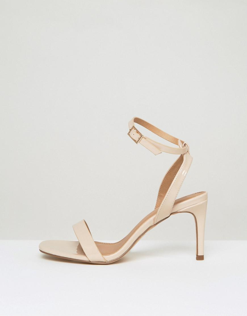 2c082cb5c57dc ASOS Hideaway Wide Fit Heeled Sandals in Natural - Lyst