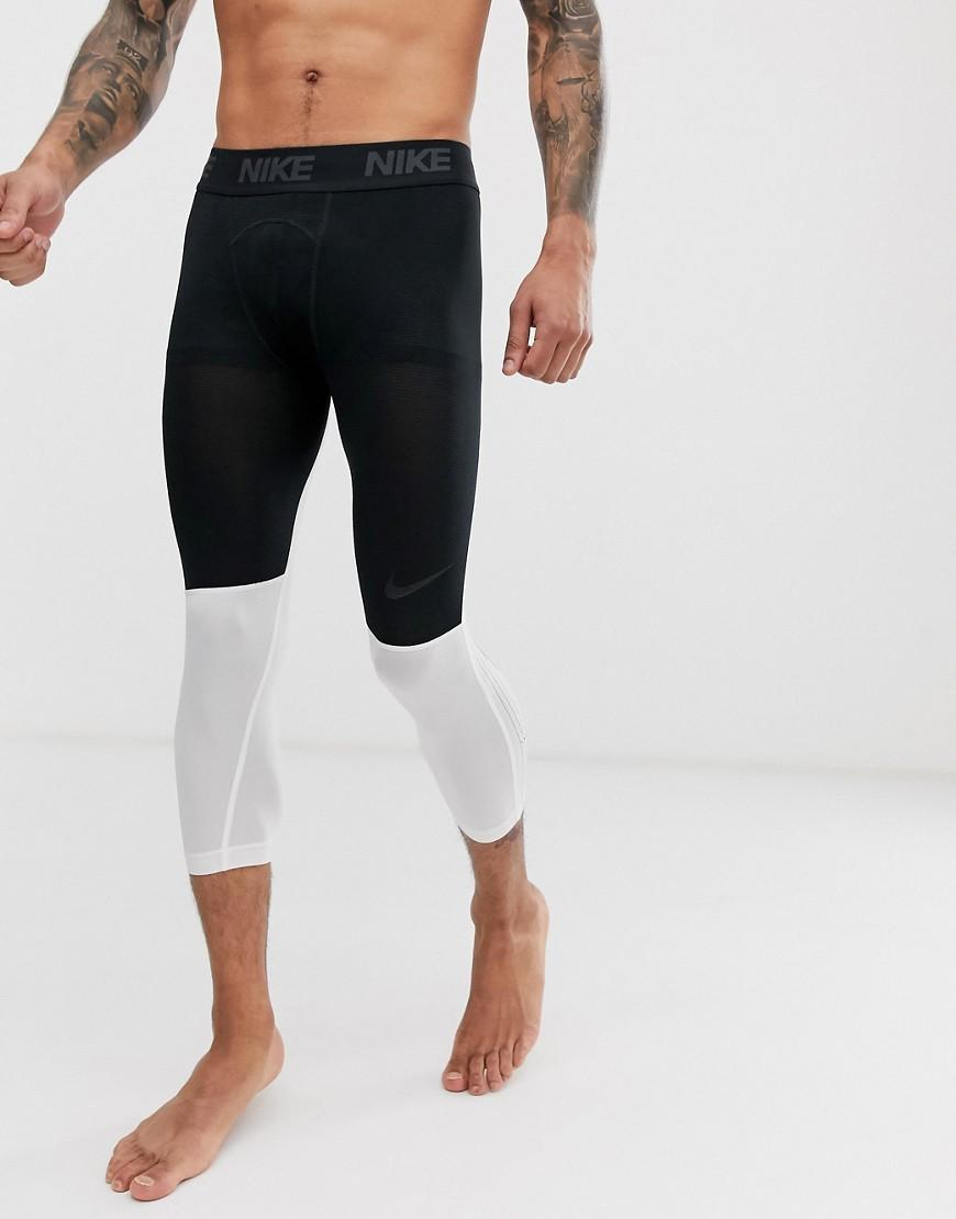1378b1b36e208 Nike - Pro 3/4 Tights In Black for Men - Lyst. View fullscreen