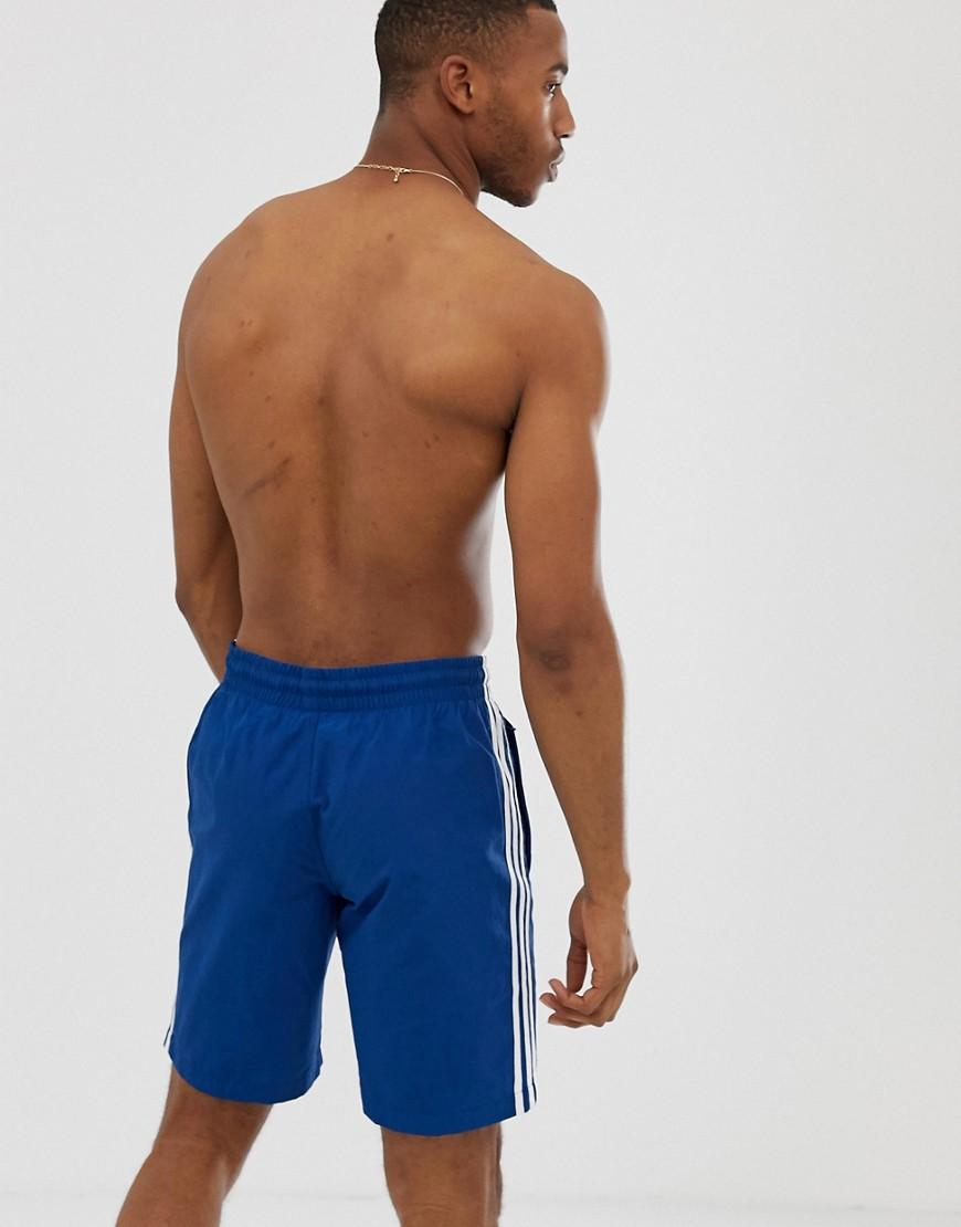 f4353f883d Lyst - adidas Originals 3 Stripe Swimming Shorts In Navy in Blue for Men