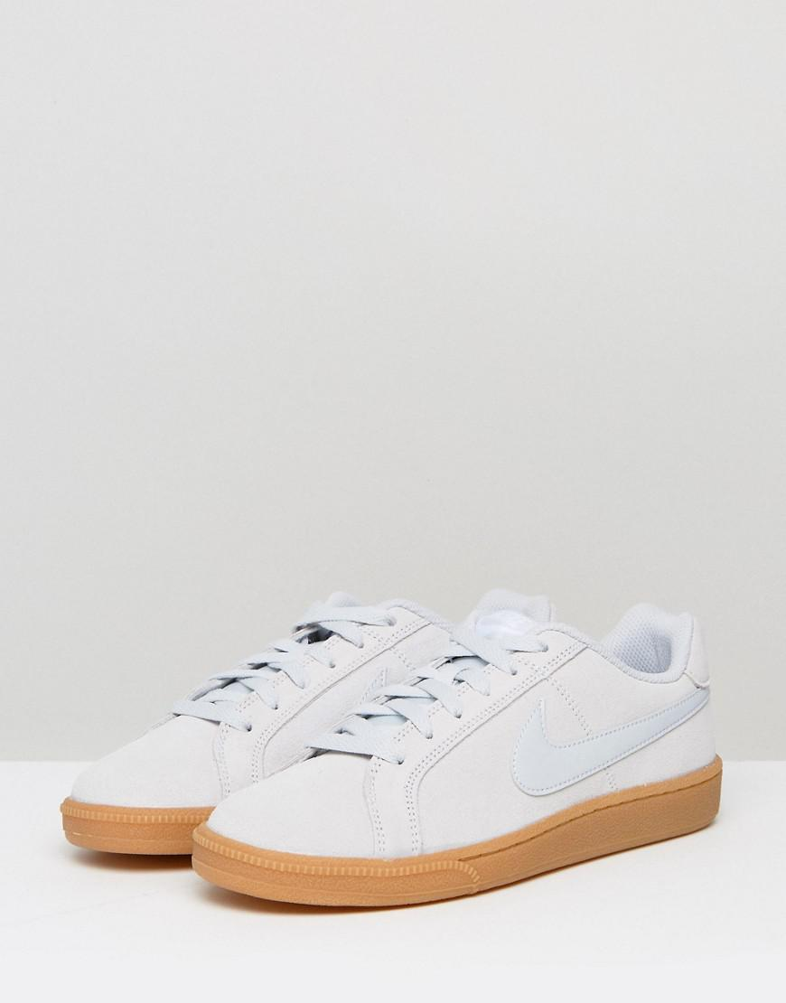 97c15f2ad2d Nike Court Royale Trainers In Silver Suede in Metallic - Lyst