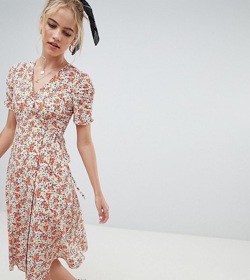 fb77151bd79f Reclaimed (vintage) Inspired Midi Dress In Floral Print - Lyst